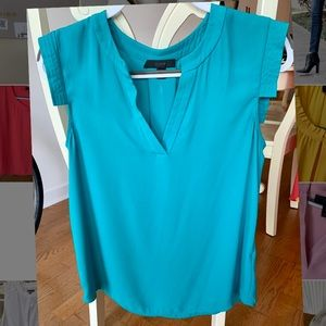 J Crew turquoise lightweight blouse (SIZE 4)